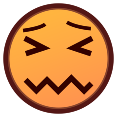 How Confounded Face emoji looks on Emojidex.