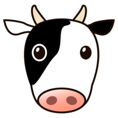 How Cow Face emoji looks on Emojidex.