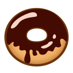 How Doughnut emoji looks on Emojidex.