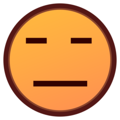 How Expressionless Face emoji looks on Emojidex.