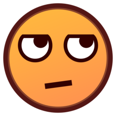 How Face with Rolling Eyes emoji looks on Emojidex.