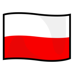 How Flag: Poland emoji looks on Emojidex.