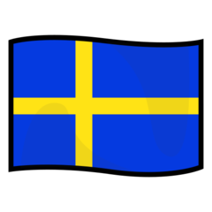 How Flag: Sweden emoji looks on Emojidex.