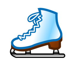 How Ice Skate emoji looks on Emojidex.