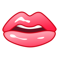 How Mouth emoji looks on Emojidex.