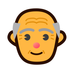 How Old Man emoji looks on Emojidex.