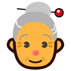 How Old Woman emoji looks on Emojidex.