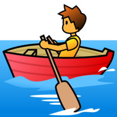 How Person Rowing Boat emoji looks on Emojidex.