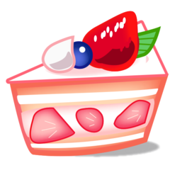 How Shortcake emoji looks on Emojidex.