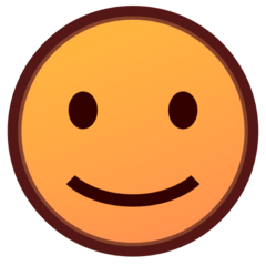How Slightly Smiling Face emoji looks on Emojidex.