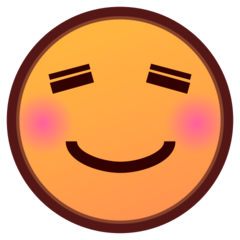 How Smiling Face emoji looks on Emojidex.