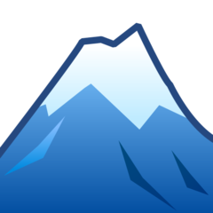 How Snow-Capped Mountain emoji looks on Emojidex.