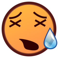 How Tired Face emoji looks on Emojidex.