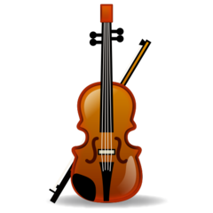 How Violin emoji looks on Emojidex.
