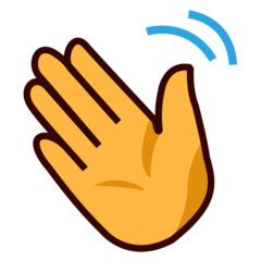 How Waving Hand emoji looks on Emojidex.