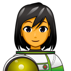 How Woman Astronaut emoji looks on Emojidex.