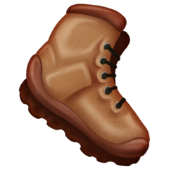 How Hiking Boot emoji looks on Emojipedia.