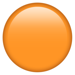 How Orange Circle emoji looks on Emojipedia.