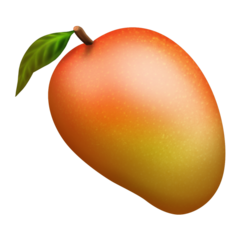 How Mango emoji looks on Emojipedia.