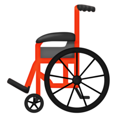 How Manual Wheelchair emoji looks on Emojipedia.