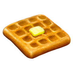 How Waffle emoji looks on Emojipedia.
