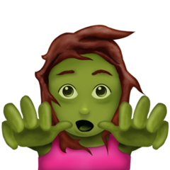 How Woman Zombie emoji looks on Emojipedia.