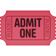 How Admission Tickets emoji looks on Facebook.