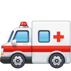 How Ambulance emoji looks on Facebook.