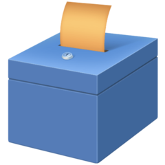 How Ballot Box with Ballot emoji looks on Facebook.