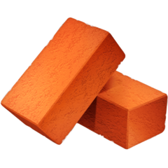 How Brick emoji looks on Facebook.