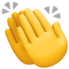 How Clapping Hands emoji looks on Facebook.