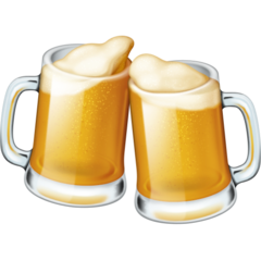 How Clinking Beer Mugs emoji looks on Facebook.