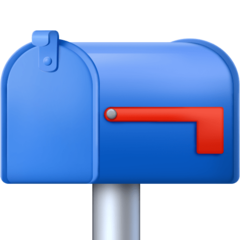 How Closed Mailbox with Lowered Flag emoji looks on Facebook.