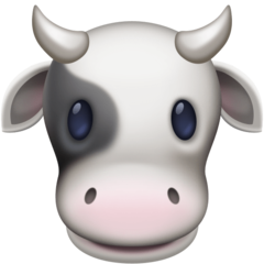 How Cow Face emoji looks on Facebook.