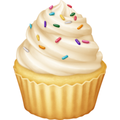 How Cupcake emoji looks on Facebook.