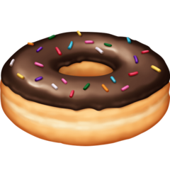 How Doughnut emoji looks on Facebook.