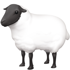 How Ewe emoji looks on Facebook.