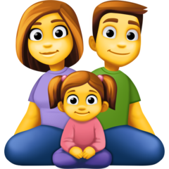 How Family: Man, Woman, Girl emoji looks on Facebook.