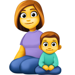 How Family: Woman, Boy emoji looks on Facebook.