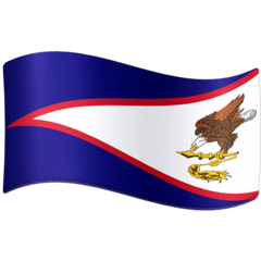 How Flag: American Samoa emoji looks on Facebook.