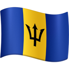 How Flag: Barbados emoji looks on Facebook.
