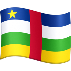 How Flag: Central African Republic emoji looks on Facebook.