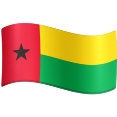 How Flag: Guinea-Bissau emoji looks on Facebook.