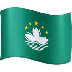 How Flag: Macao Sar China emoji looks on Facebook.