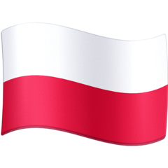 How Flag: Poland emoji looks on Facebook.