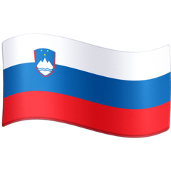 How Flag: Slovenia emoji looks on Facebook.