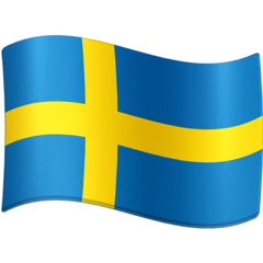 How Flag: Sweden emoji looks on Facebook.