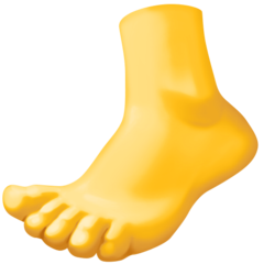 How Foot emoji looks on Facebook.