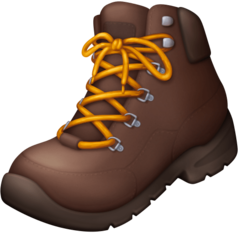 How Hiking Boot emoji looks on Facebook.