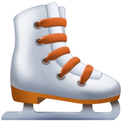 How Ice Skate emoji looks on Facebook.